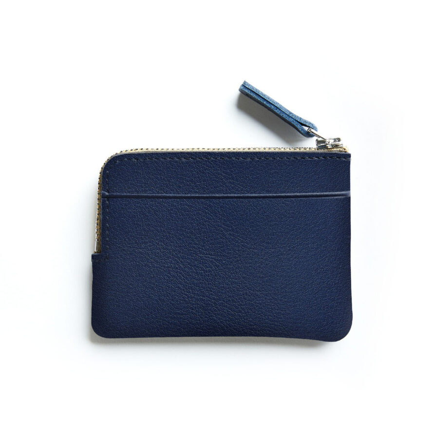 Navy Minimalist Purse in Calfskin Leather by Carré Royal Back (AT302 Navy)