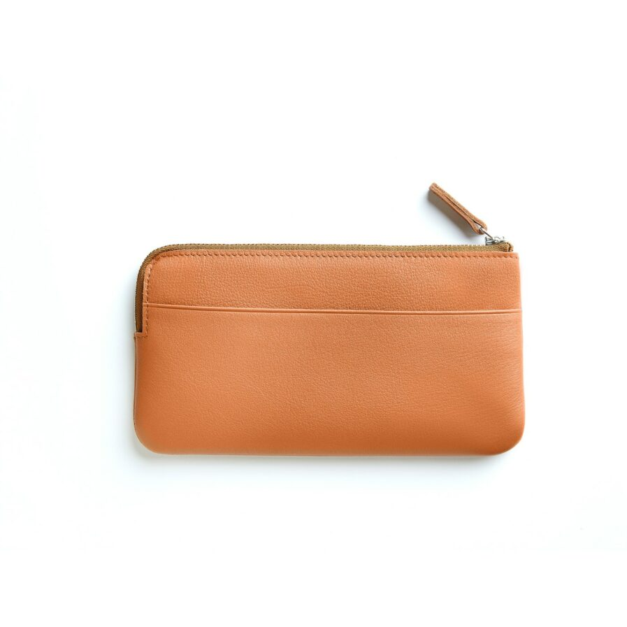 Gold Pouch in Calfskin Leather by Carré Royal Back (AT305 Gold)