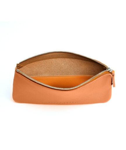 Gold Pouch in Calfskin Leather by Carré Royal Open (AT305 Gold)