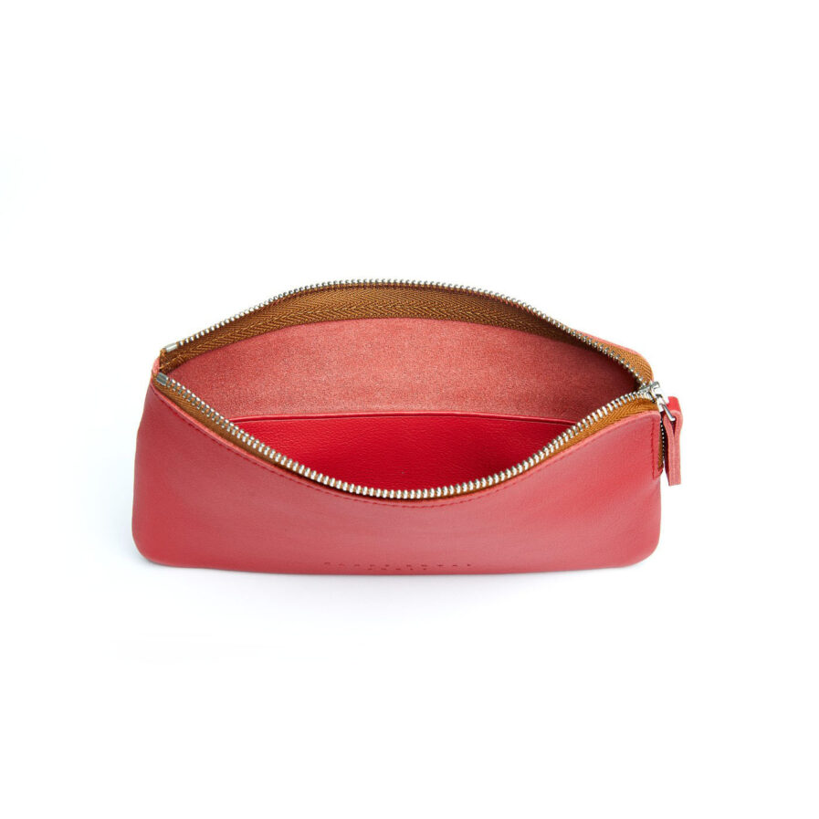 Red Pouch in Calfskin Leather by Carré Royal Open (AT305 Red)